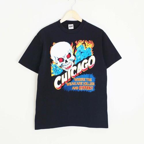 古着 Tシャツ 90's CHICAGO SKULL メンズM