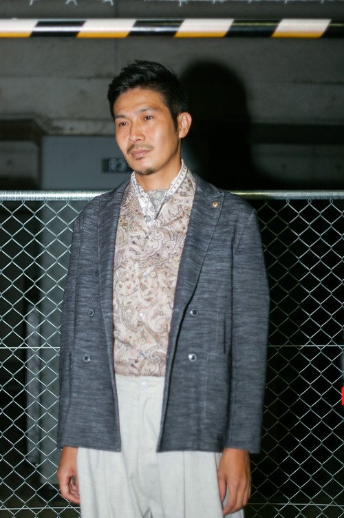 Men's  /  double breasted JACKET of ponte fabric