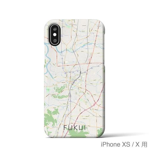 【福井】地図柄iPhoneケース(バックカバータイプ・ナチュラル)