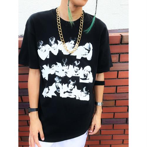 90~00s ジャニーズプリントTシャツ 黒/ブラック