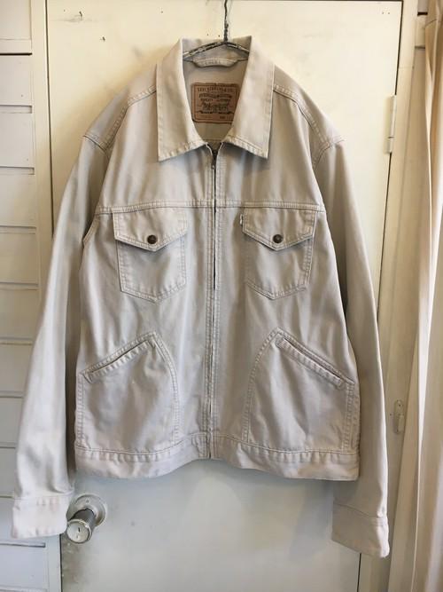oversized cotton pique jacket