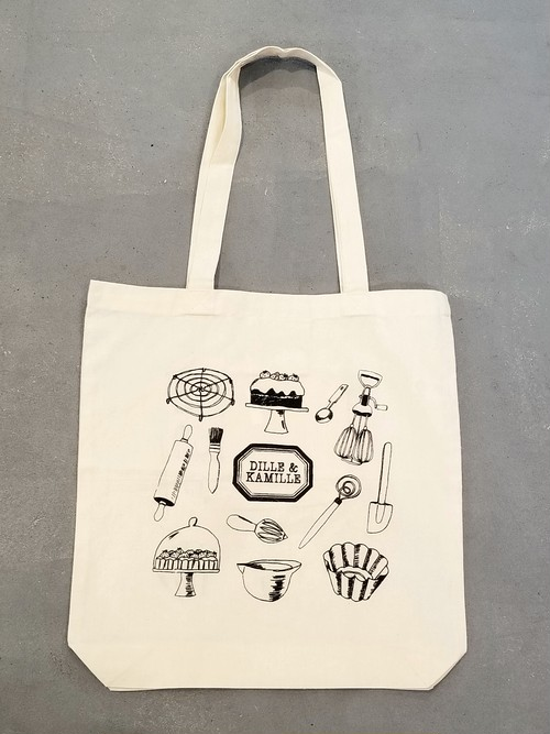 DILLE&KAMILLE Sweets goods pattern tote bag [B-269]