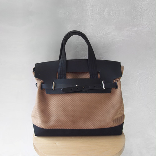 CaBas N°55 1Day tripper mini +shoulder strap Brown/Black