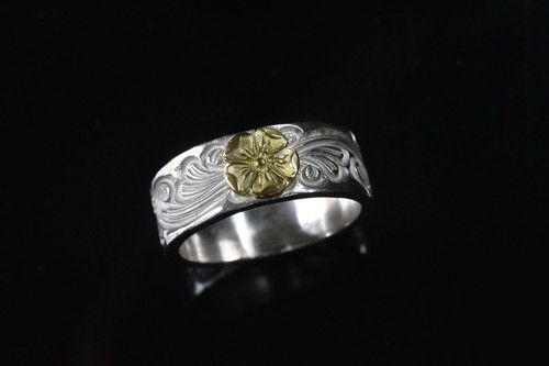 Love 18k rose karakusa ring 8mm