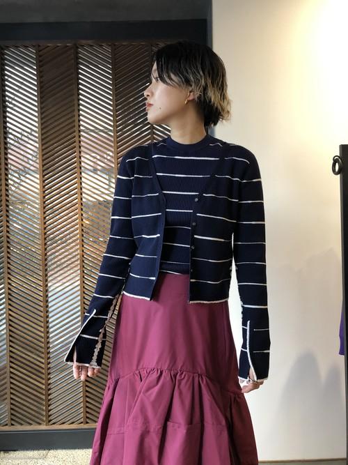 【20AW】3.1Phillip Lim スリーワンフィリップリム / border knit cardian