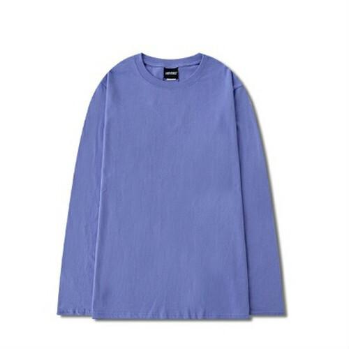 メンズ長袖Tシャツ。丸首ユニセックスもOKシンプルカジュアルコーデおすすめ10色