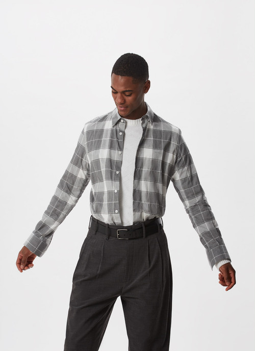 CHECKED SHIRT WITH LOGO