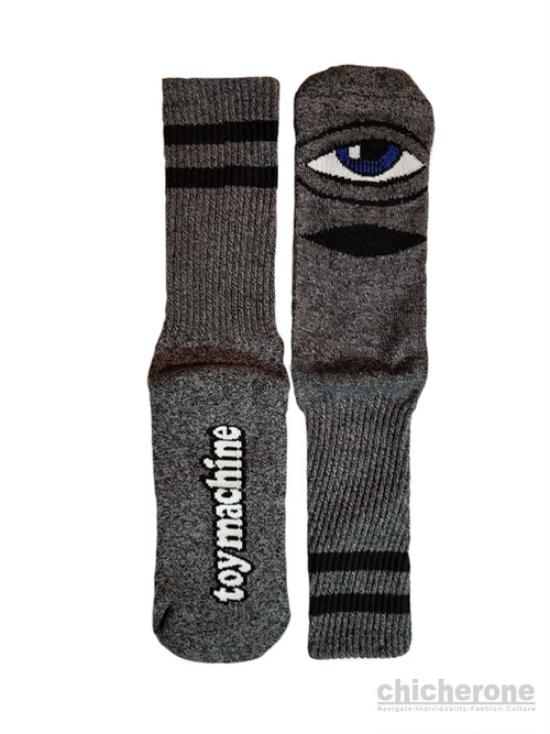 【TOY MACHINE】 SECT EYE HEATHER SOCKS GREY