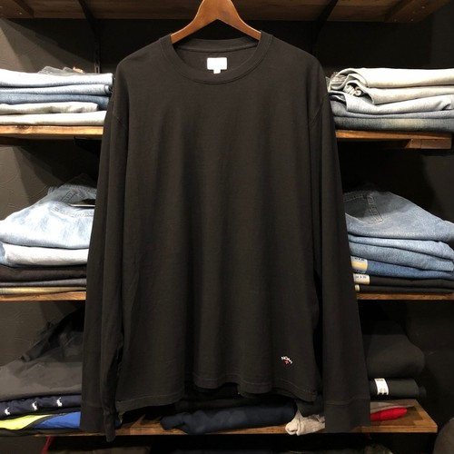 【NOAH NYC】 -ノア-RECYCLED COTTON LONG SLEEVE TEE BLACK