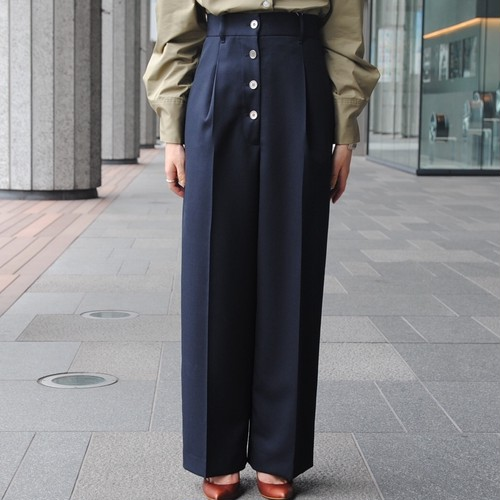【CINOH】HI WAIST FRONT BUTTON PANTS