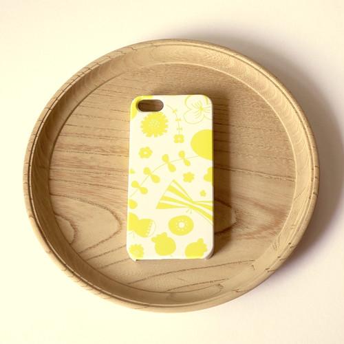 【iPhone / Android 各機種専用タイプ】側表面印刷*ハード型*スマホケース「bliss ( yellow )」● 受注生産