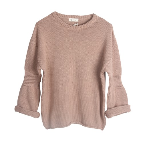 THE BIBIO PROJECT OVERSIZE RIBBED SLEEVE SWEATER(TUSCANY)