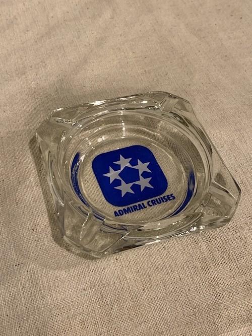 "GLASS ASHTRAY ""ADMIRAL CRUISES"""