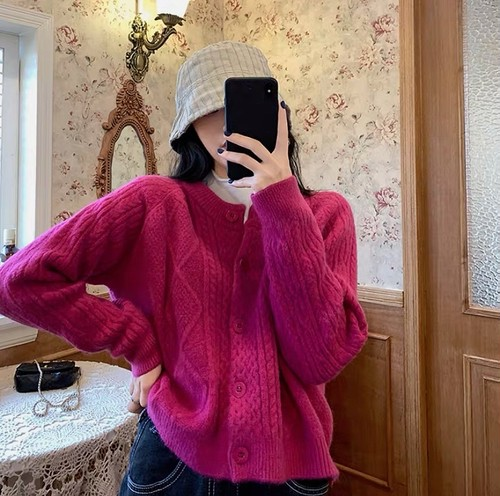 cable knit tops 3color