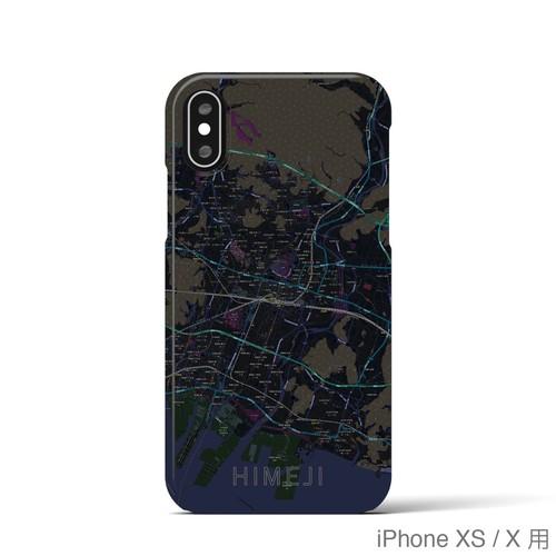 【姫路】地図柄iPhoneケース(バックカバータイプ・ブラック)