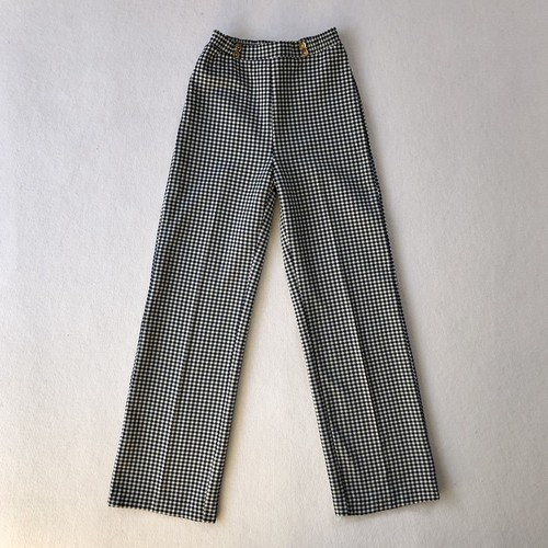 hounds tooth check polyester pants (V5051A)
