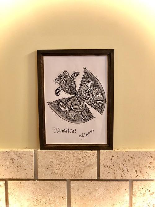 Demekinアートボード(ポスター) NA2& original design art board (デメキン・金魚)