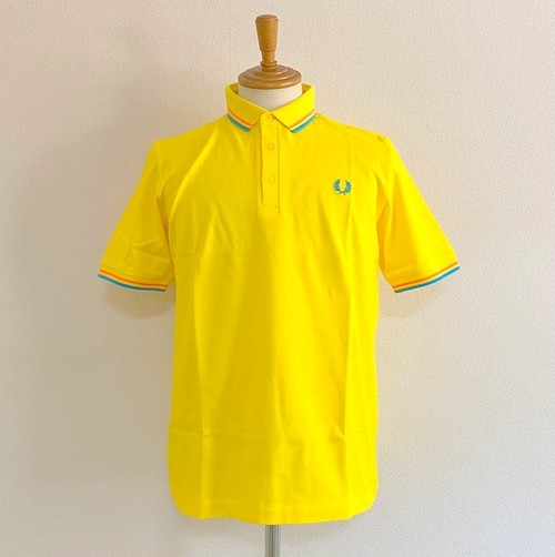 FRED PERRY MADE IN JAPAN PIQUE SHIRT CYBER YELLOW