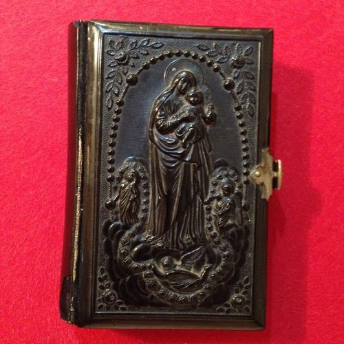 Antique (1892) Lacquered Book of prayers