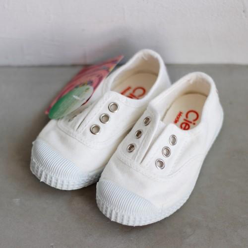《CIENTA》デッキシューズ / BLANCO(white) / 22〜24.5cm