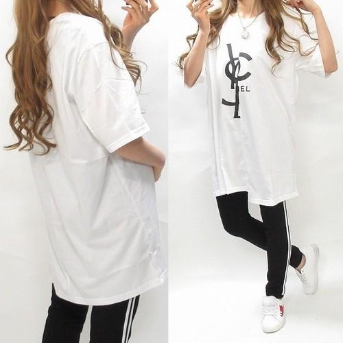 BIGシルエット ドッキングTシャツ 日本製 ユニセックス ホワイト オーバーサイズ