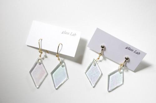 glass lab「ひし形クリアガラス(ピアス・イヤリング)」
