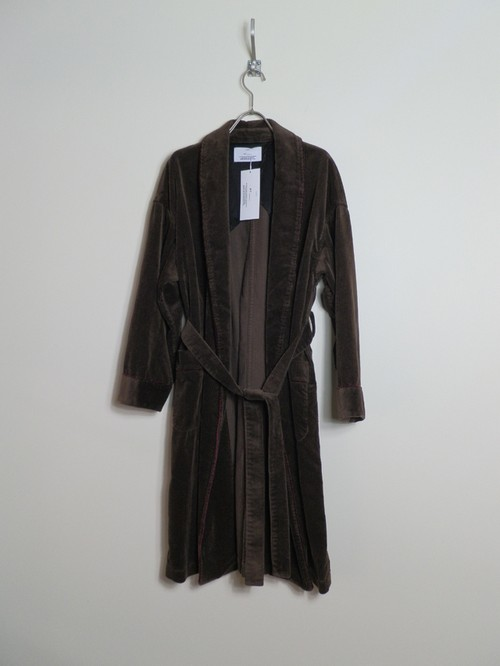 CORDUROY GOWN [BROWN]