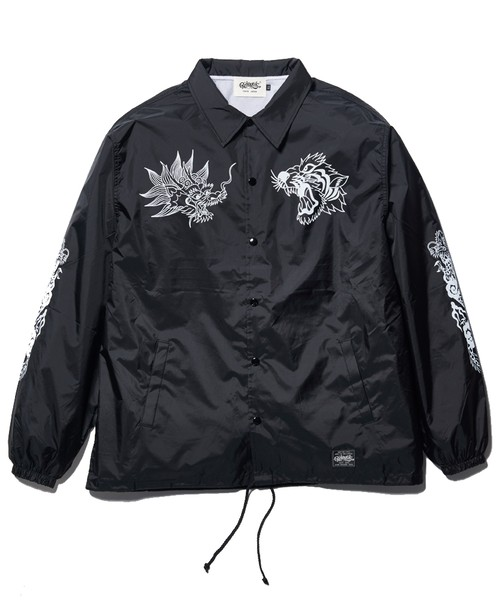 "Rakugaki ""TIGER & DRAGON"" Coach Jacket Black"