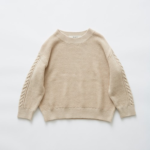 《eLfinFolk 2019SS》moss stitch sweater / ivory / F(大人)