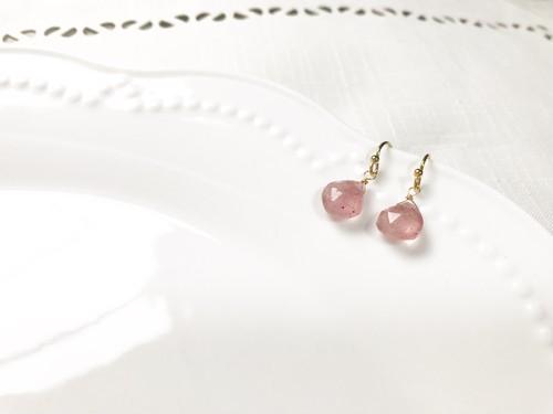 14kgf Stawberry quartz pierce