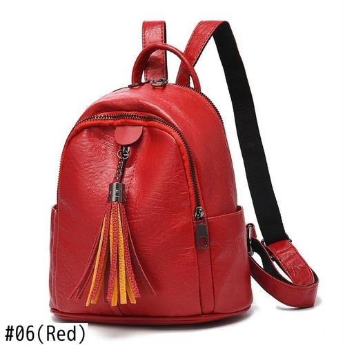 Leather Backpack Tassel Casual Bag Solid Travel Sac カジュアル レザー バックパック リュック ソリッドカラー タッセル (HF99-0435041)