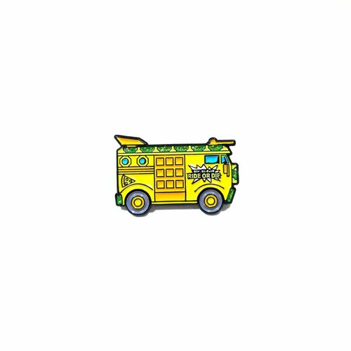 """OTHER WORLD""""TMNT Party Wagon lapel pin"""""""