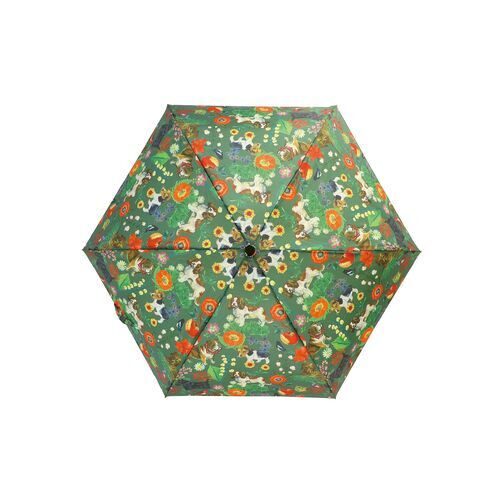 雨の日が待ち遠しくなる♩Nathalie Lete 折りたたみ傘(Dog&Flower)