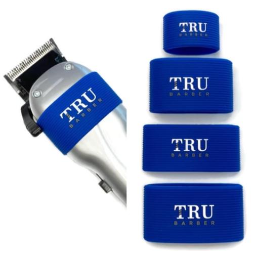 TRU BARBER クリッパーグリップ4個組 ブルー