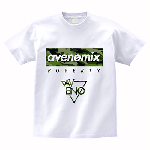 avenomix / PUBERTY T-SHIRT WHITE WOODLAND CAMO