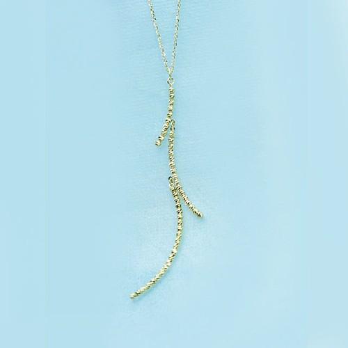 小枝のペンダントネックレス K18
