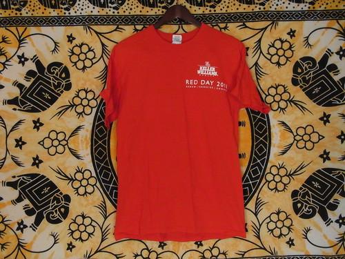 USA古着TシャツKELLER WILLIAMSイベント両面 赤100%綿M極美品