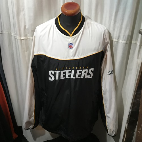 Reebok社製 NFL Steelers ナイロンプルオーバー メンズL~XL