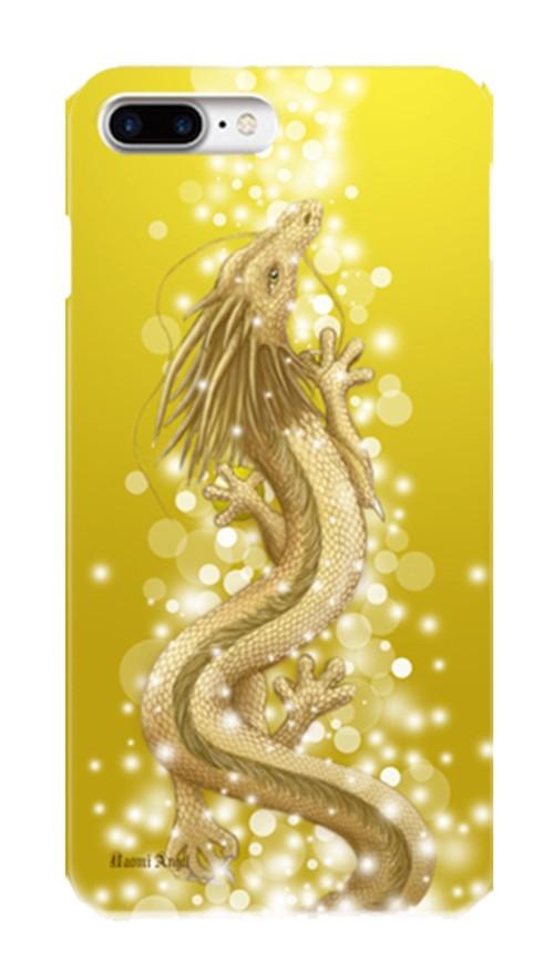 【iPhone 6Plus/6sPlus/7Plus/8Plus】豊かさの金龍 Golden Dragon of Abundance ツヤありハード型スマホケース