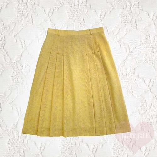プリーツデザインスカート ブラウン系 古着