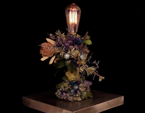 Banksia green&purple   lamp