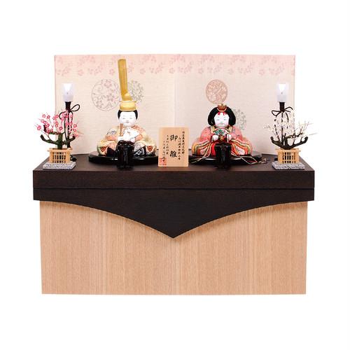 ひな人形<収納飾り・石川潤平作 木目込み人形>泰平雛