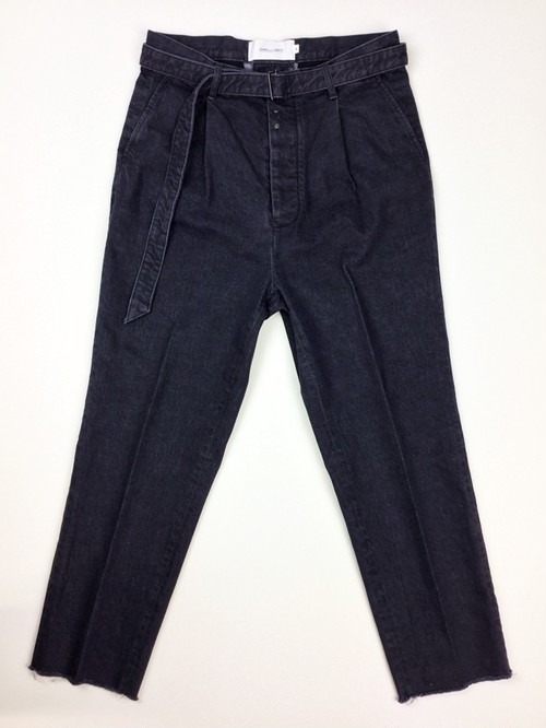 【JOHN MASON SMITH】TUCK BELT SLUCKS DENIM