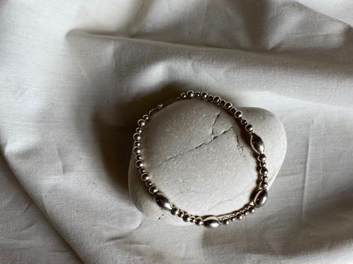 〈vintage silver925〉mix beads bracelet