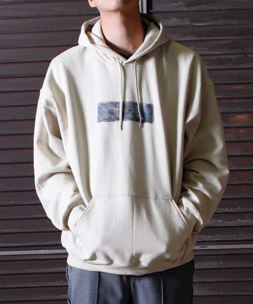 Needle Punch Box Logo PO Hoody -baige <LSD-BJ3T3>