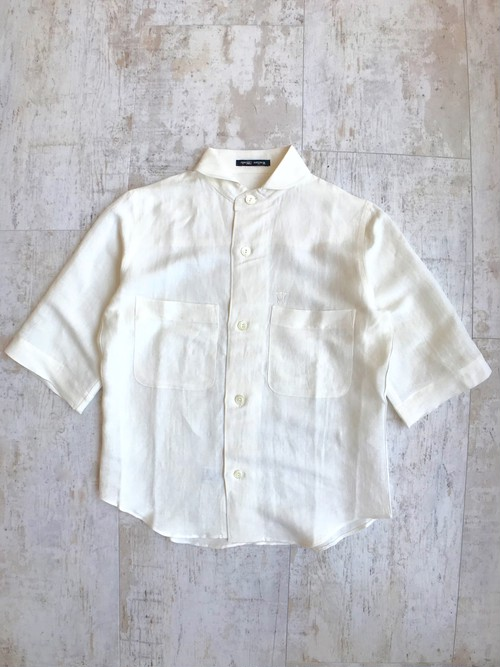 Viscose linen deck man short-sleeve shirt