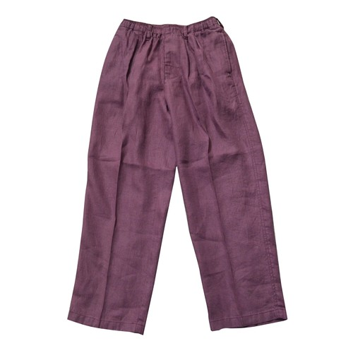 COMFORTABLE REASON / LINEN DAILY SLACKS -PURPLE-
