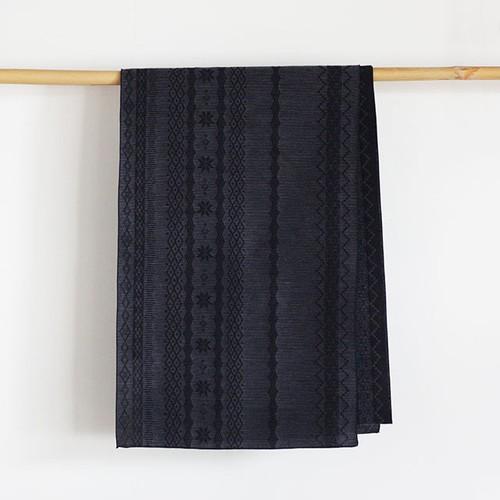 上質な綿麻素材の大人へこ帯「raita(ライタ)/ナイトネイビー×ブルー」
