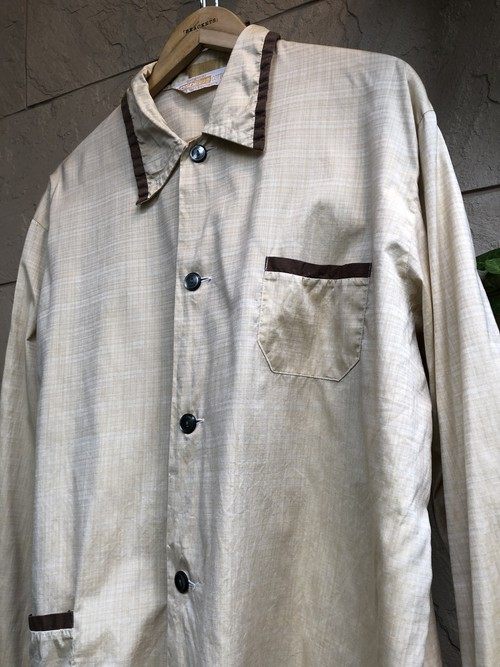 Old German cotton pajama shirts beige color