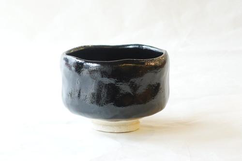 八代 川崎和楽 作 黒 楽茶碗